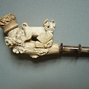 Beautiful and rare vintage Meerschaum cigarette holder