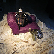 Little Violette Sofa for your little Mignonette Doll..