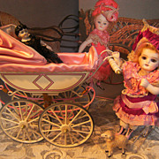 Beautiful tin carriage for by your Mignonette dolls.