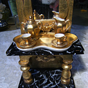 """Lovely French Thea-set in Gold tone """"Limoges"""" France."""