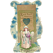 "Valentine Die Cut Three Layers ""Good Saint Valentine"" Lyre"
