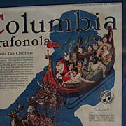 Columbia Grafonola Advertisement Delineator Christmas 1920