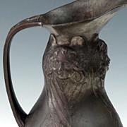 SALE Kayserzinn Pewter Jug ~Angels, Apples and Snake ~~ Jugendstil Art Nouveau