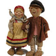 SALE Russian Stockinette Doll couple~Delightful Characters~