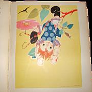 REDUCED Raggedy Ann Doll Book~ RAG-DOLL JANE ~12 Art Deco Illustrations ~ 1935
