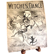 REDUCED ~Witches' Dance~1909  Sheet Music~ Super Graphic!