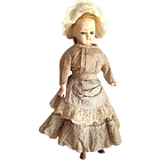 "Early Paper Mache Doll~14"" All original Patent Washable"