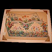 Illustration on Velum, in the Manner of Jean-Baptiste Pillement, Early 19th Century