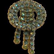 SALE Vintage Rhinestone Circle Pin