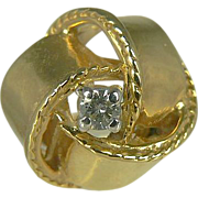 Vintage 14kt Knotted Bow Ring