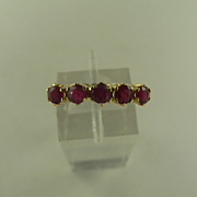 SALE PENDING 14kt Ruby Stack Band