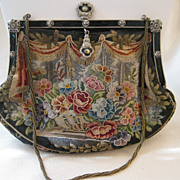 SALE Vintage Needlepoint Bag