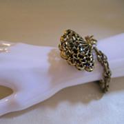 SALE Vintage Fan Bracelet