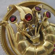 DeRosa Sterling Silver Art Deco Fur Clip