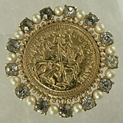 SALE Castlecliff Coin Brooch