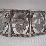 Antique Sterling Silver Sweetheart Bracelet