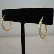 14kt Italian Hoop Earrings