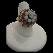 14kt Ruby Opal Ring