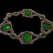 SALE Vintage Art Deco Festoon Bracelet - Paste