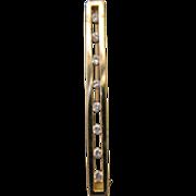 SALE Vintage 10kt Diamond Bar Pin