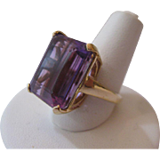 Estate Amethyst 14kt Ring