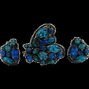 Regency Butterfly Pin & Earrings