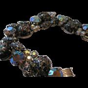 Juliana Marbled Glass Cabochon Aurora Borealis Set