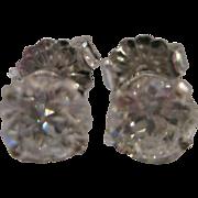 14kt Old European Cut Diamond Earrings