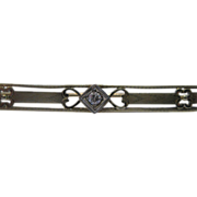 Art Deco 14kt Diamond Bar Pin