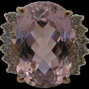14kt Kunzite Diamond Ring