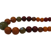 Estate Multi-color Bakelite Beaded Necklace
