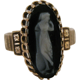 Antique 14kt Cameo Ring
