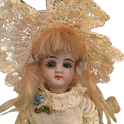 """Antique German Bisque Kestner 4"""" Mignonette Doll - #208"""