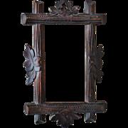 SALE Rare Antique Miniature Arts & Crafts Picture Frame or Photo Frame Mission Bungalow Oa