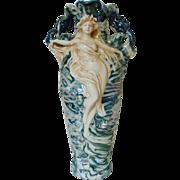 SALE LARGE Royal Dux Goddess Vase Victorian Art Nouveau Lusterware Luster Ware Bohemia Antique