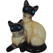 SALE Retro Siamese Cat Cats TV Lamp with Lighted Eyes Mid Century Modern Vintage