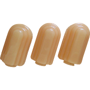 SALE 3 Art Deco Pink Custard Glass Lamp Shades