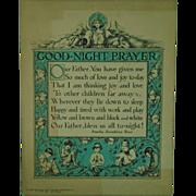 SALE Vintage Baby Baptismal Presentaton Prayer by Amelia Josephine Burr c. 1925 Baptism Religi