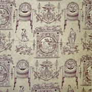 1 of 11 Yards Fabric Toile Style Neo-Classical Pattern