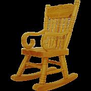 SALE Miniature Rocking Chair Dollhouse Wood Furniture Rocker Doll House Vintage