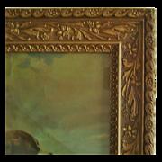 SALE Antique Picture Frame Wood & Gesso 19c Victorian Art Nouveau Styling for Photo Photog
