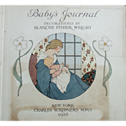1916 Baby Journal w/ Photos Charles Scribner's Sons Baby Writings & Illustrations