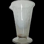 SALE Antique 19c Measuring Cup Hand-Blown Glass Beaker