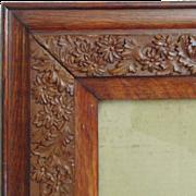 SALE Antique Picture Frame Oak Wood & Gesso Arts & Crafts Mission Bungalow for Photogr