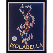 SALE 1910 Poster Isolabella & Figlio Advertising Milano Harlequin Liquer Liquor Barware Fr