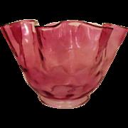 SOLD Lamp Shade Cranberry Glass Oil Kerosene Banquet GWTW Chandelier Light Fixture