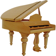 SOLD Miniature Wood Dollhouse Furniture Grand Piano Doll House Vintage