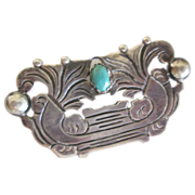 Old sterling Mexican brooch