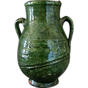 Antique petite 19 C French Country Confit  jar