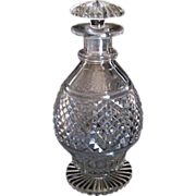 Old English diamond & star cut decanter